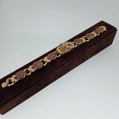 Bracelete de Senhora em ouro com Relógio.