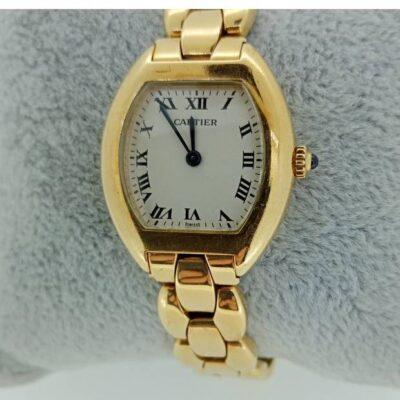 Relógio de Pulso Feminino em Ouro CARTIER TORTUE 1945