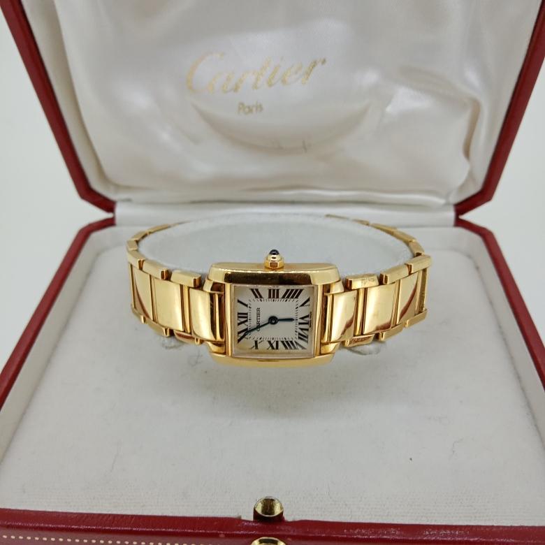 Relógio de Pulso em Ouro Tank Française