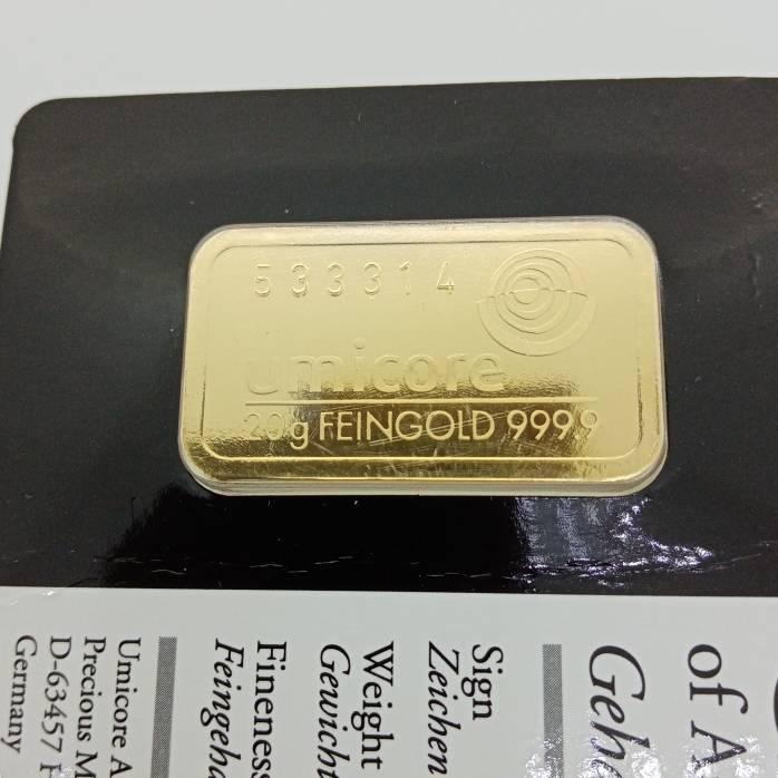 Barra de Ouro Fino 20 Grs