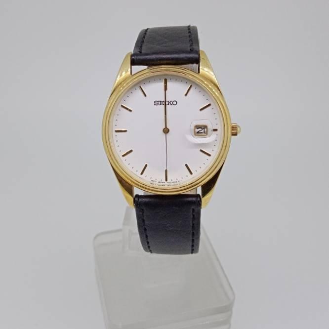Relógio de Pulso SEIKO Clássico em Ouro.