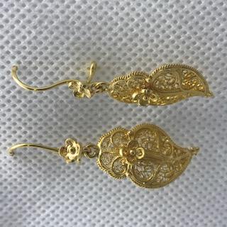 Brincos Coração de Viana em Ouro